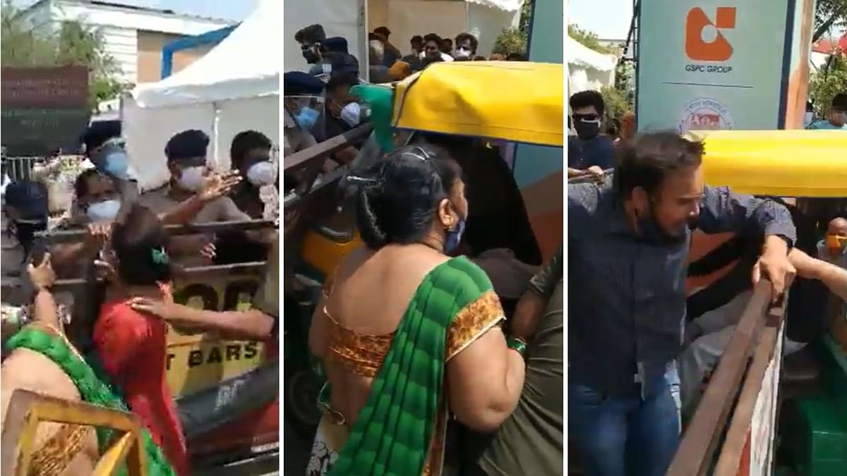 Breaking Barricades for Beds: Desperate Scenes at Gujarat Hospital