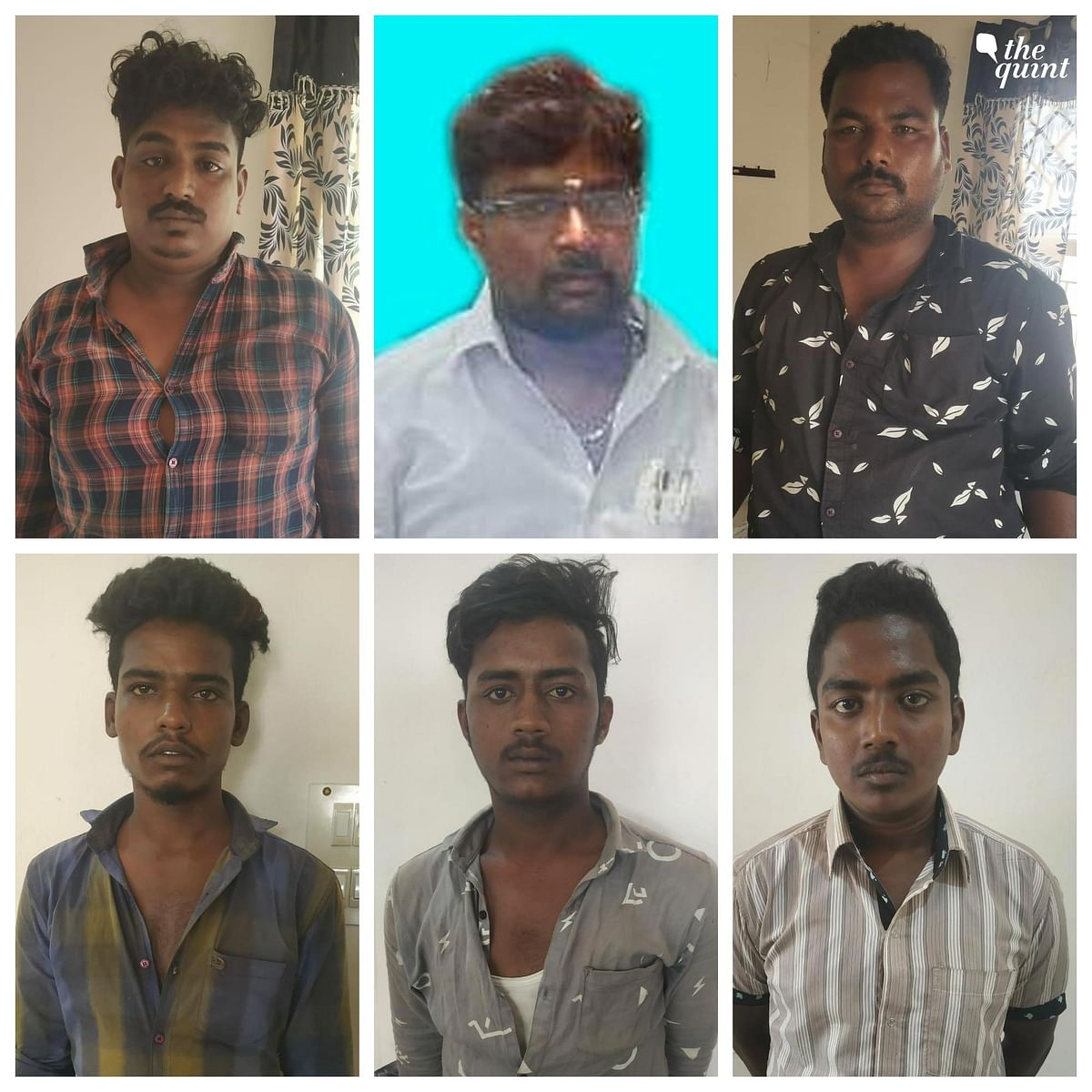 The police have arrested six persons in connection with the murders. This includes - Sathya, Karthi Sounder, Nandakumar, Ajith and Madan.