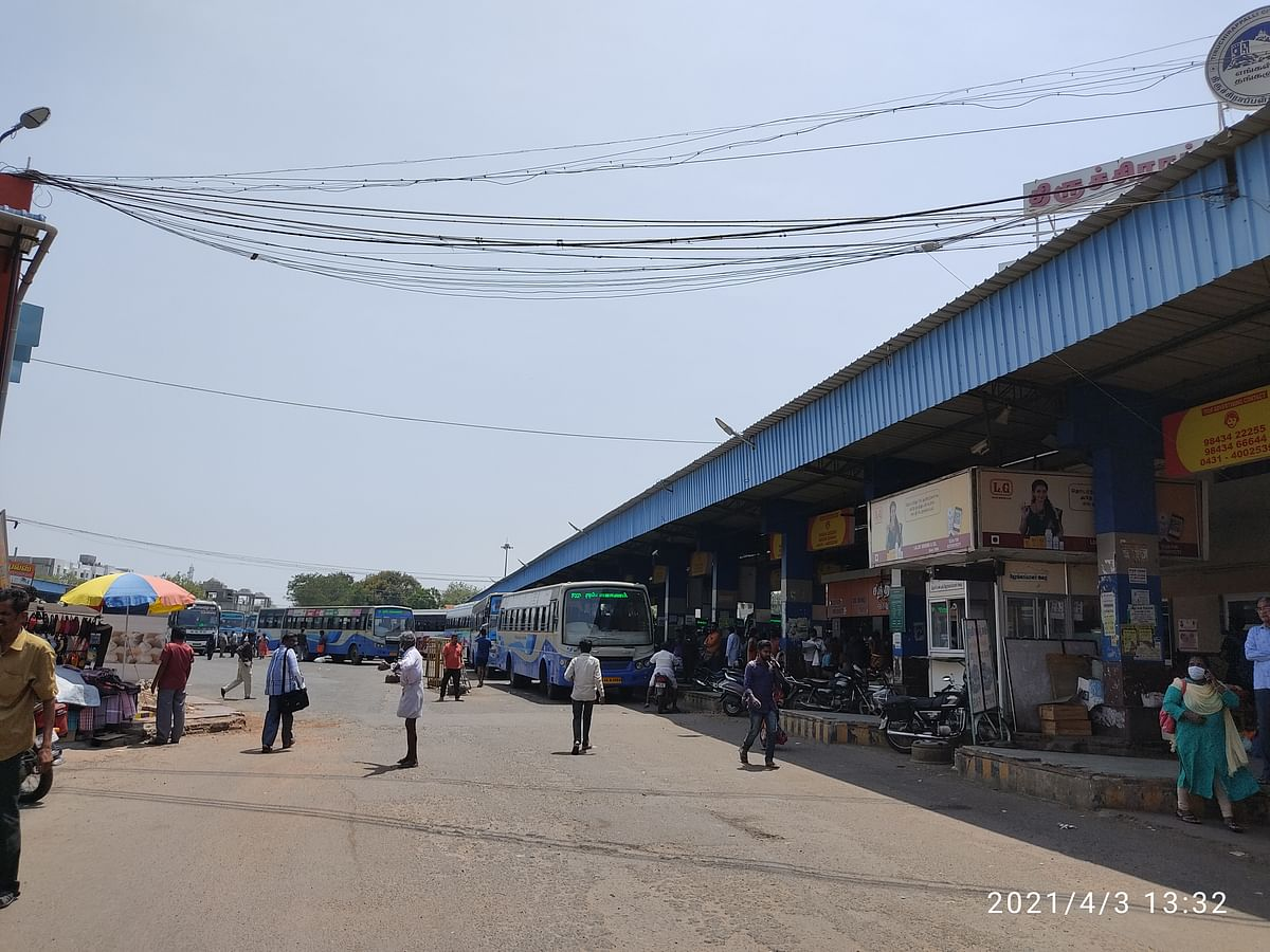 Trichy's main central bus stand continues to be just like the way it was before.