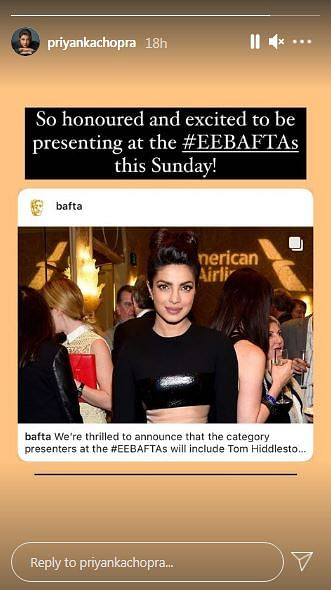 Priyanka Chopra to Present Award at the 74th BAFTAs