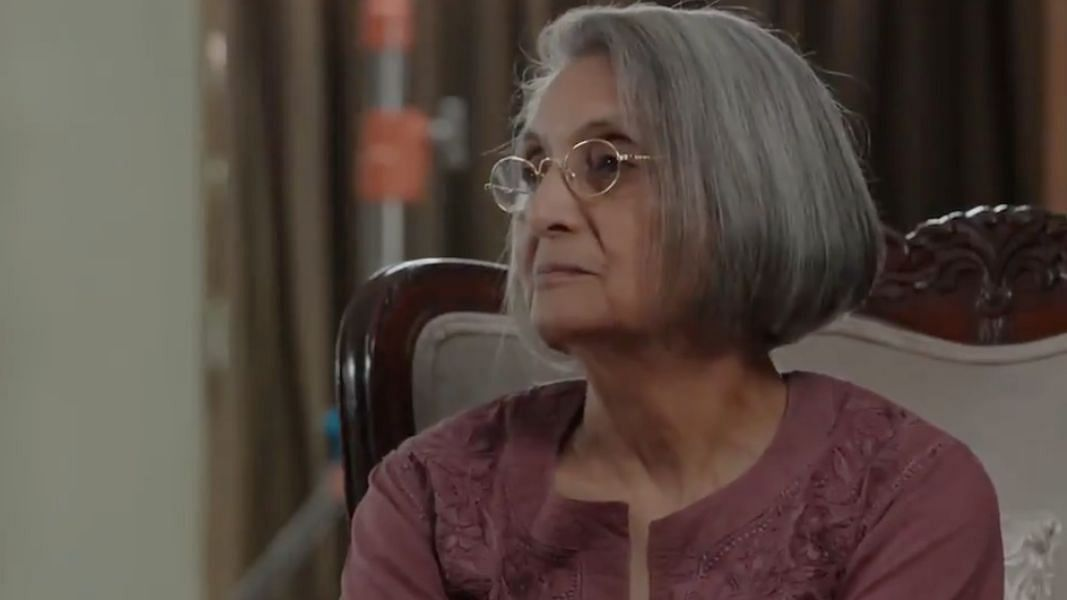 """<div class=""""paragraphs""""><p>Ma Anand Sheela in 'Searching for Sheela' trailer.</p></div>"""