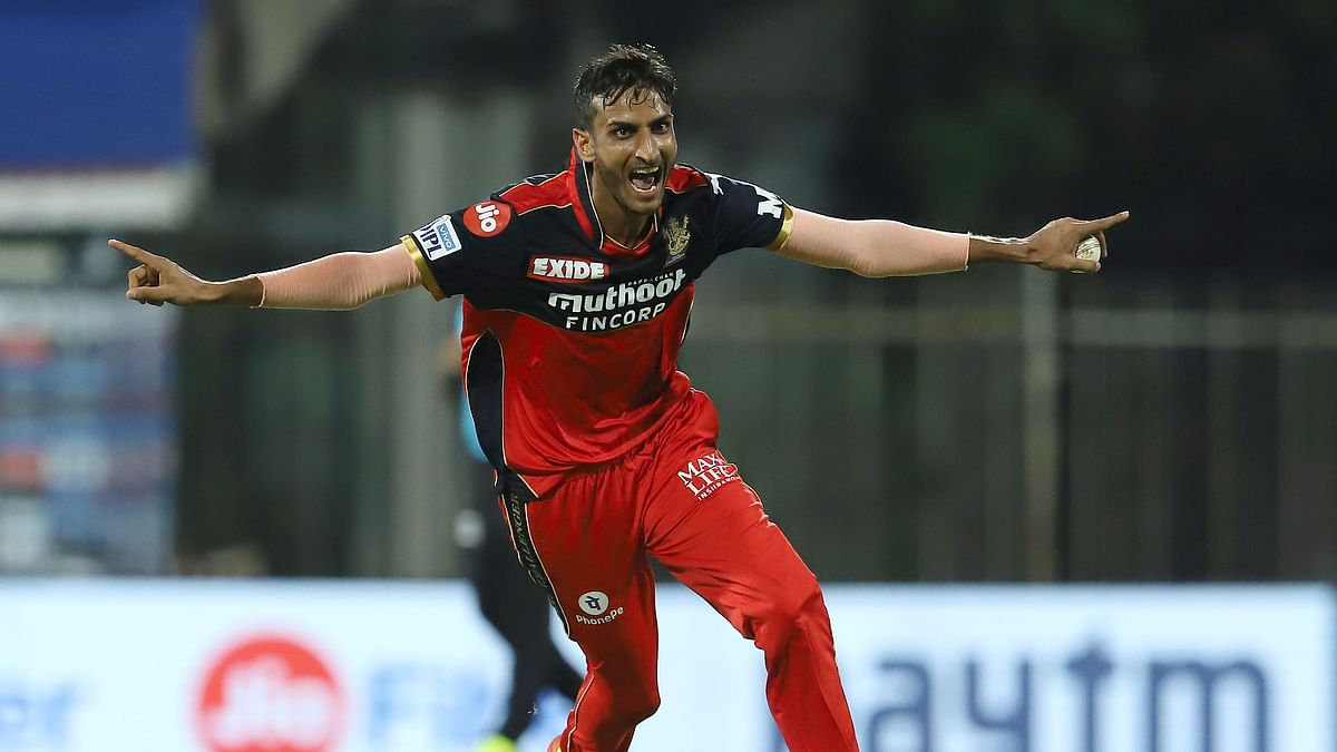 Shahbaz Ahmed picked 3/7 to help RCB register a second win on 14 April.