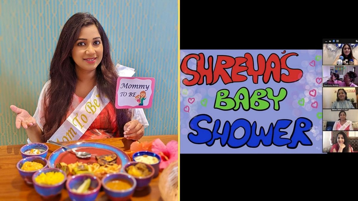 """<div class=""""paragraphs""""><p>Shreya Ghoshal's friends threw a surprise baby shower for her.</p></div>"""