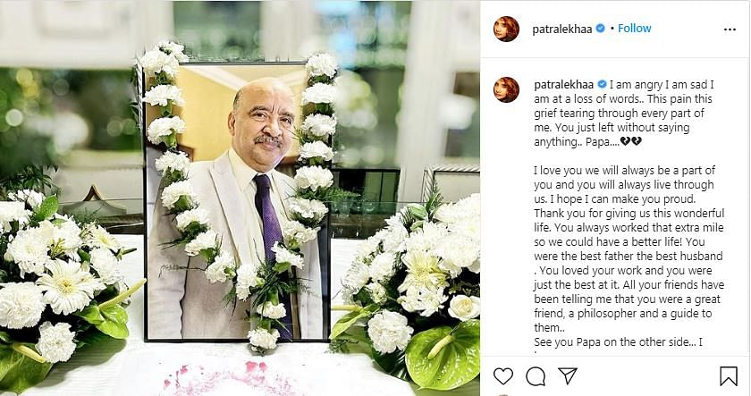 Will Always Be a Part of You: Patralekhaa Mourns Father's Demise