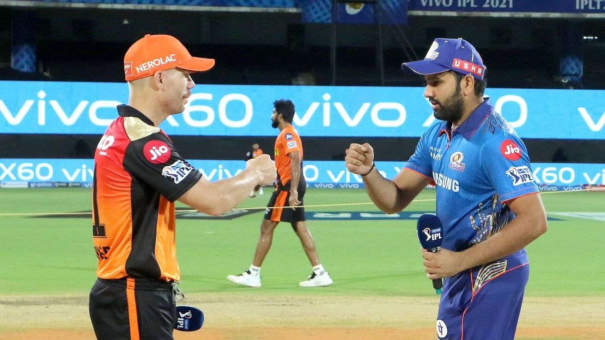 Rohit Sharma has won the toss and elected to bat first against David Warner's Sunrisers Hyderabad.