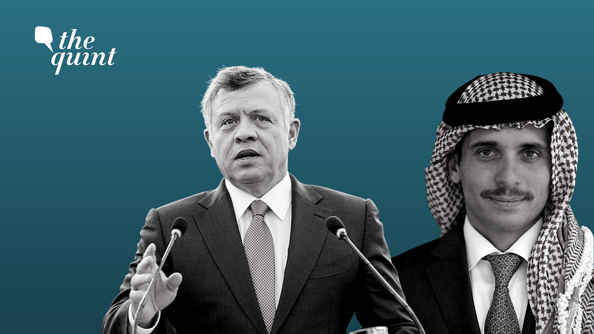 King Abdullah II (left), Prince Hamzah bin Hussein (right)