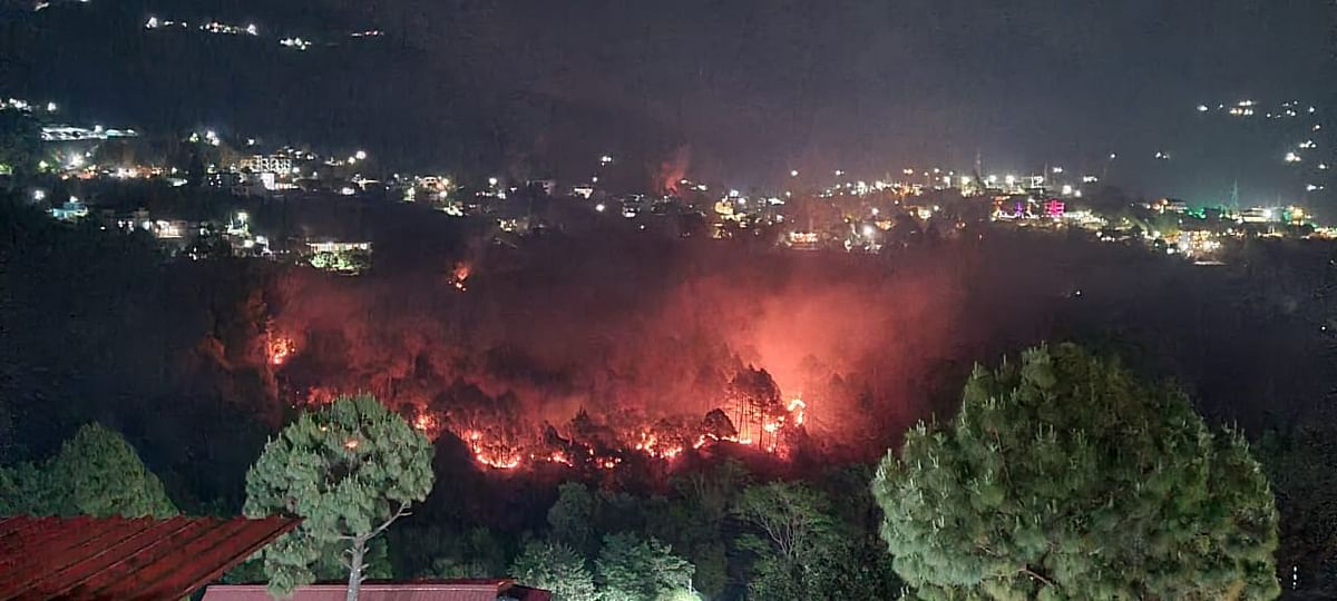 CM Tirath Singh Rawat said that there were forty incidents of fire across 11 districts.