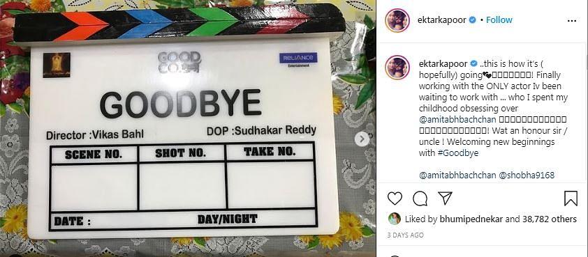 Rashmika Bags Second Bollywood Project 'Goodbye' Starring Amitabh