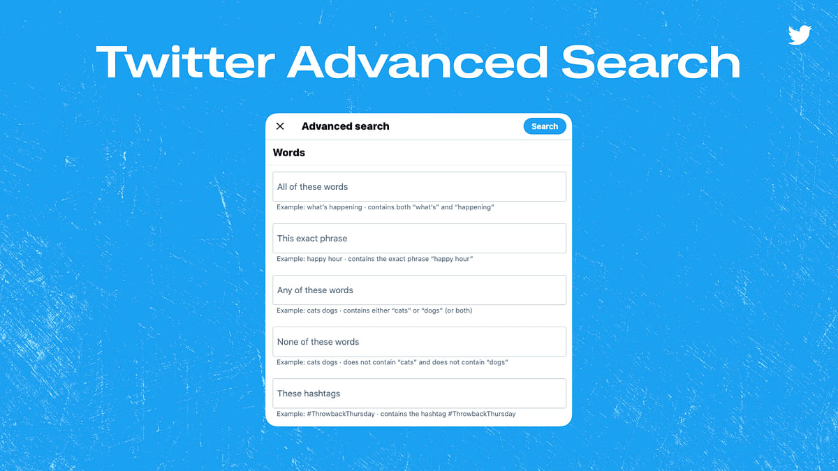 """<div class=""""paragraphs""""><p>Twitter's new advanced search option can help you filter for fields like a specific hashtag, time period</p></div>"""