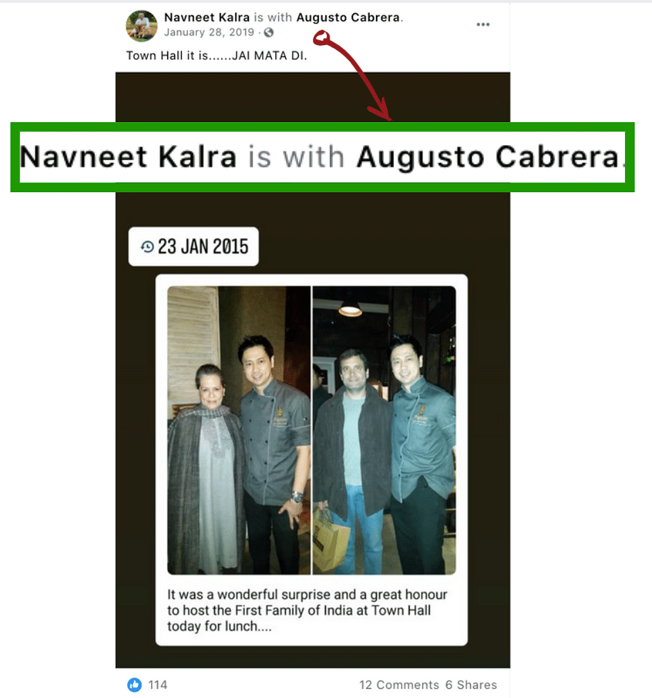 No, That's Not Navneet Kalra in Photos With Sonia & Rahul Gandhi!