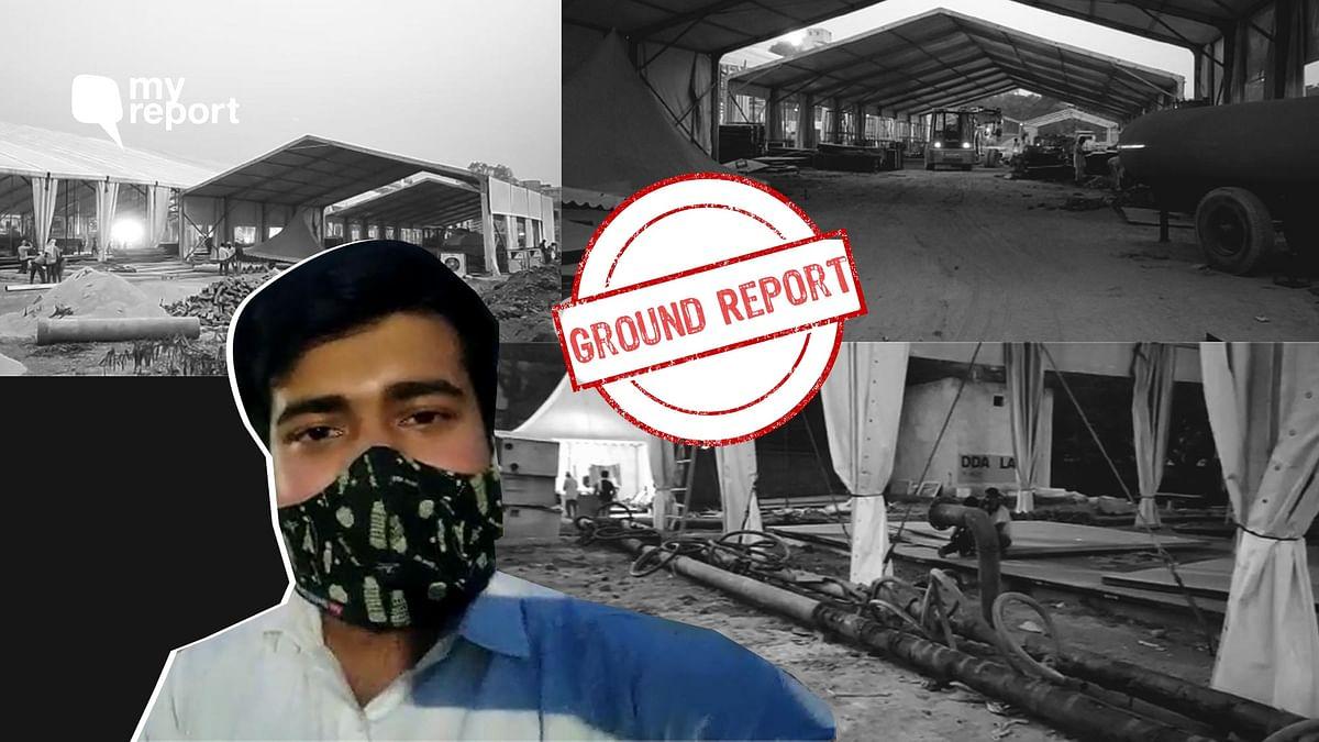 On Friday evening, all masked up, I walked past the under-construction ICU bed-facility near Guru Teg Bahadur Hospital.