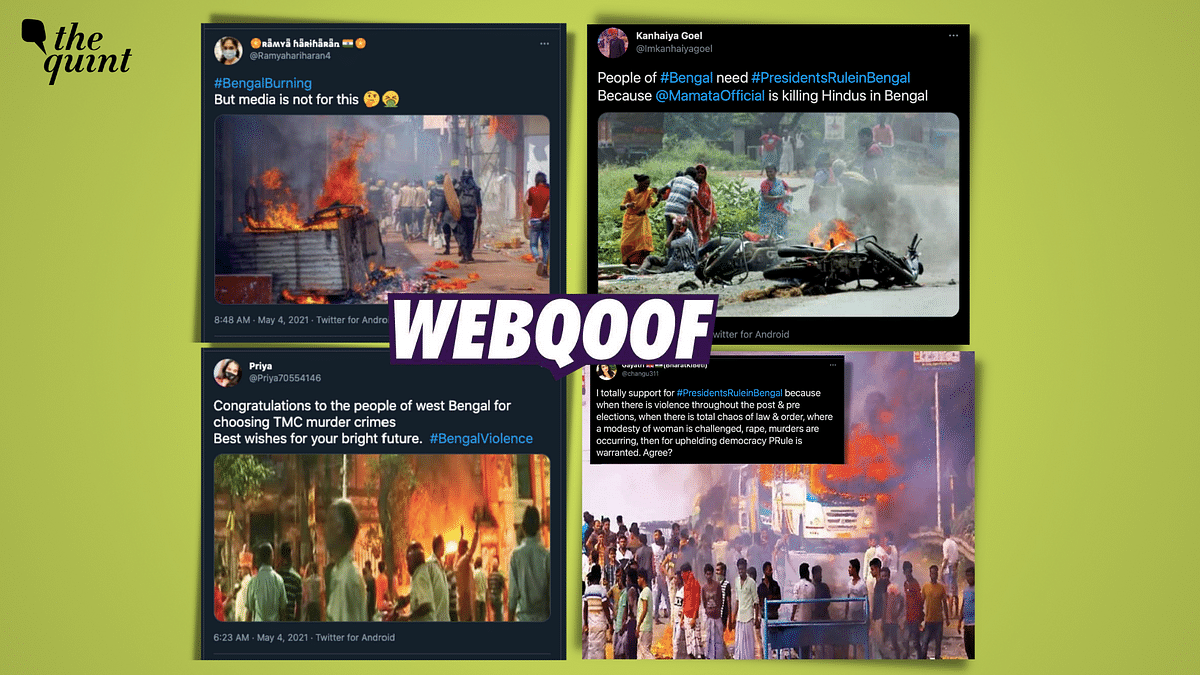 Several incidents of violence have been reported from West Bengal after results were announced on 2 May.