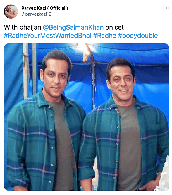 Salman's Photo With Body Double Parvez From Radhe Sets Goes Viral