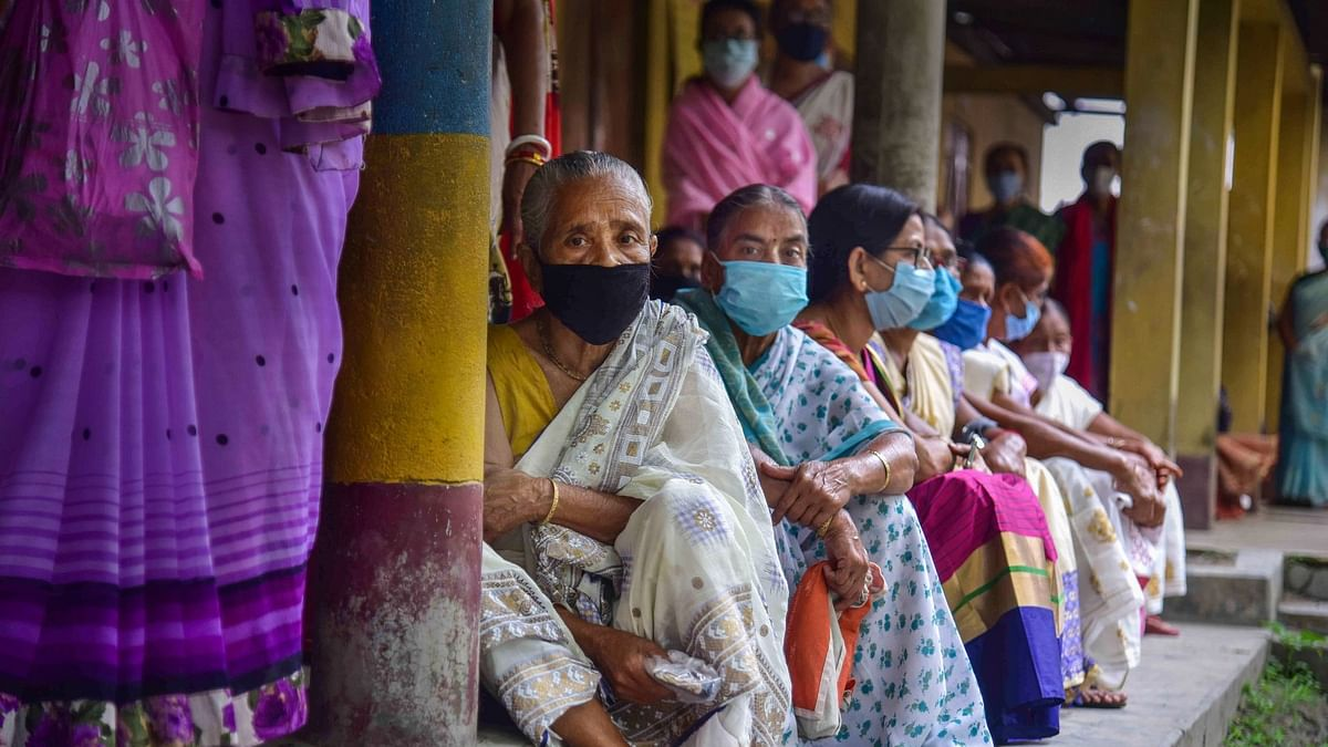 Citizens wait to receive a dose of COVID-19 vaccine, as coronavirus cases surge countrywide, in Nagaon, Wednesday, 5 May, 2021. Image used for representation.