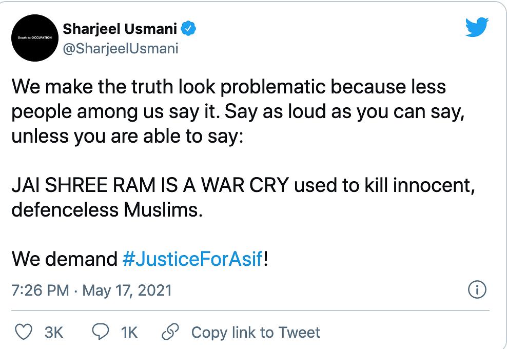 FIR Against Student Leader Sharjeel Usmani Over Derogatory Tweets
