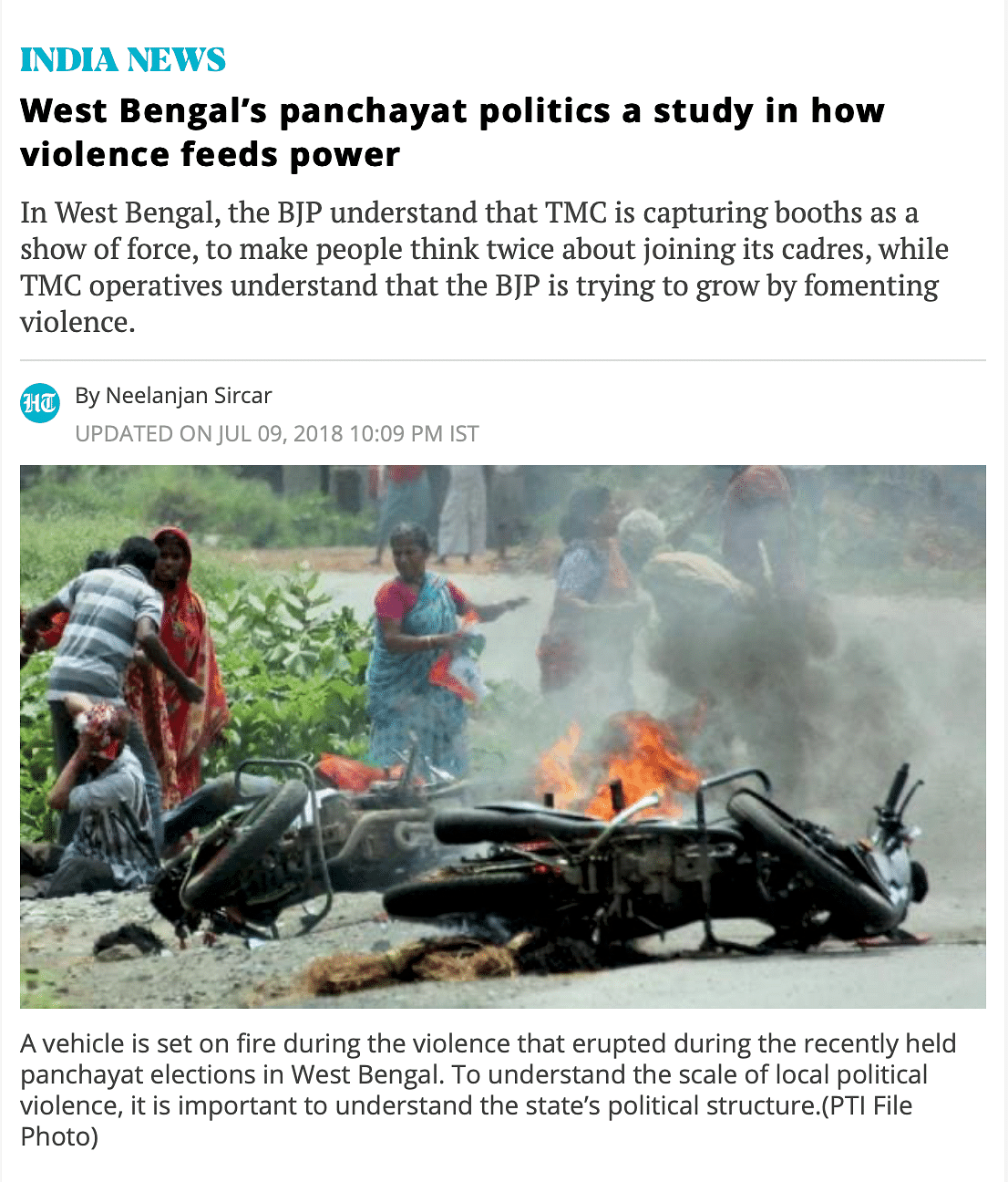 Old Images Circulated as Those of 'Post-Poll Violence' in Bengal