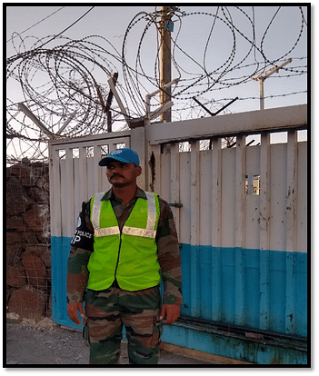 Corporal Ramesh Reddy at work. He's been part of the INDCON LOGICOY for ten years now.