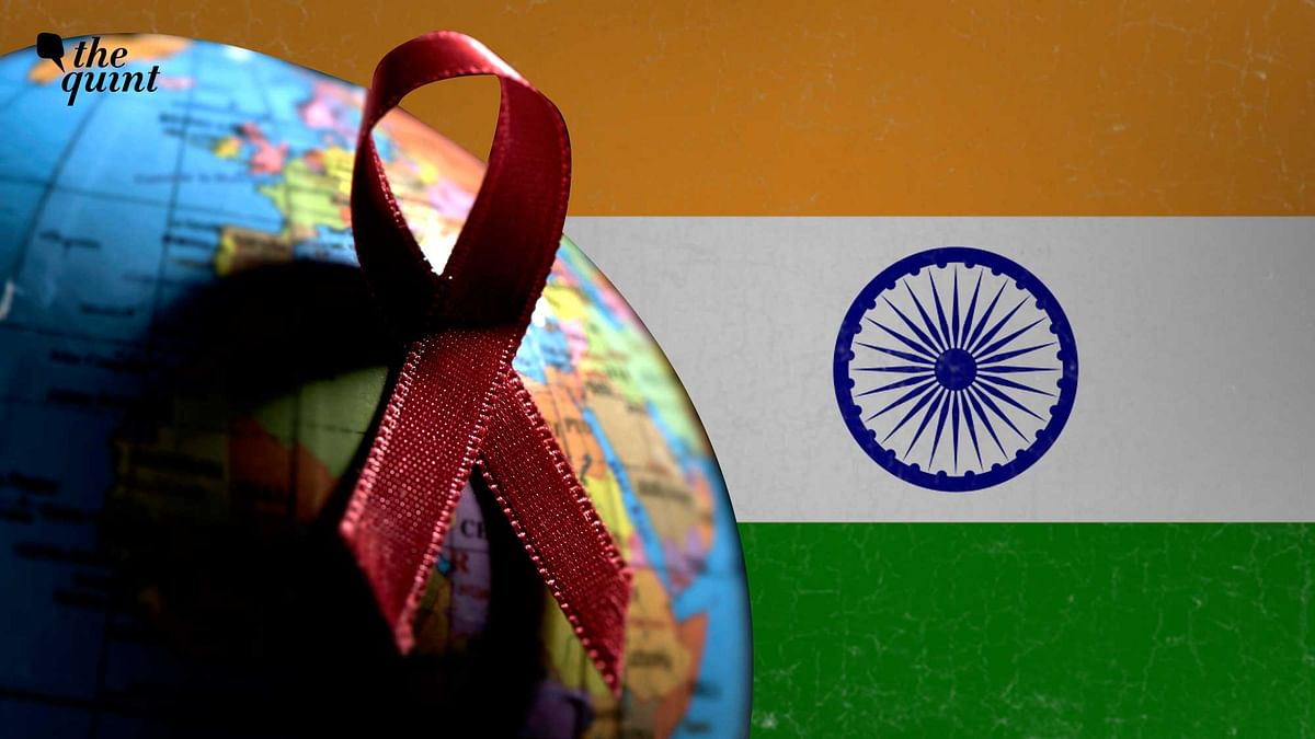 Image of Indian flag and AIDS fight symbol used for representation.