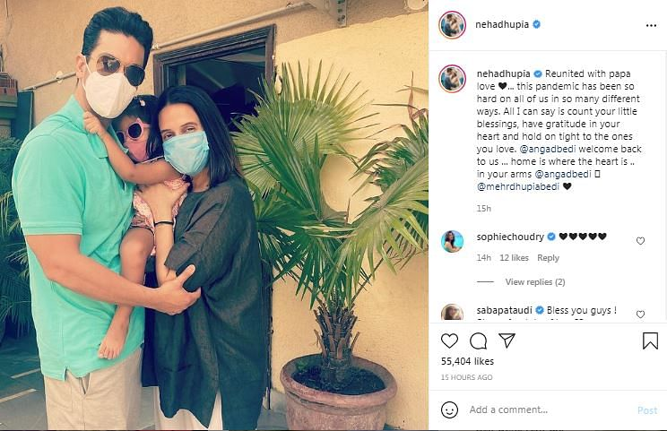 We're Reunited Now: Angad Bedi Tests COVID Negative