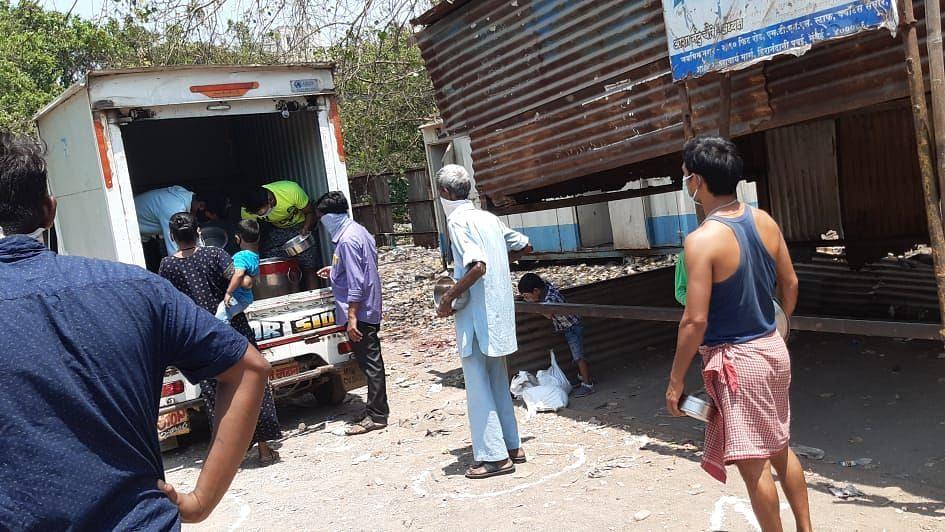 COVID relief work by Manjhi Development Foundation.