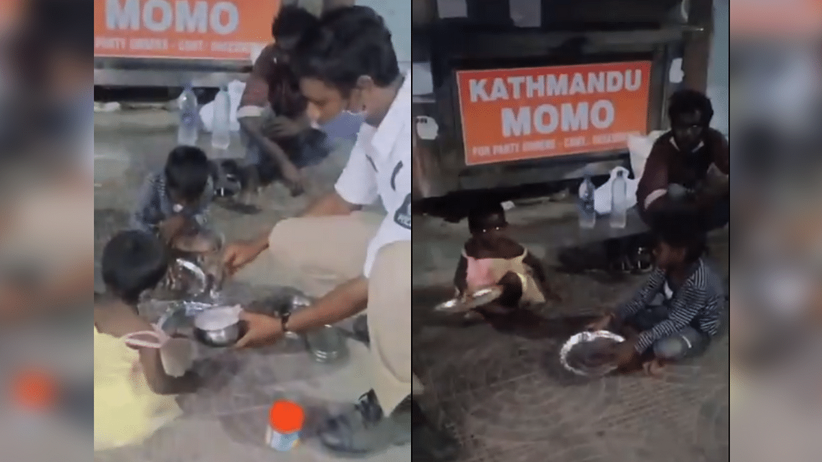 Hyderabad Cop Offers Lunch Box to Homeless Children in Viral Video