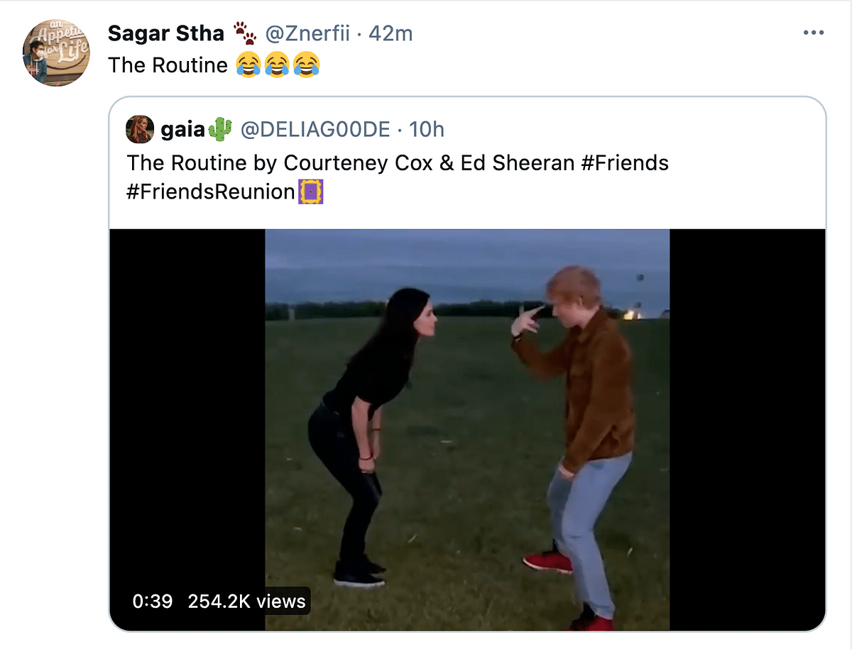 Ed Sheeran Recreated the Friends Routine and Twitter Is All for It