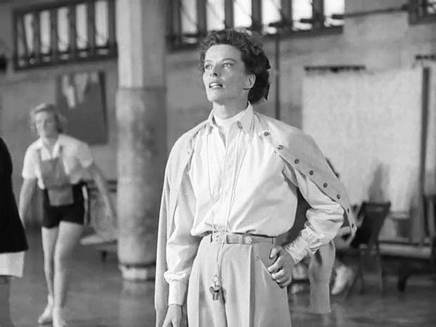 Fashion icons like Katherine Hepburn popularised trousers, a piece of clothing still considered outrageous for women.
