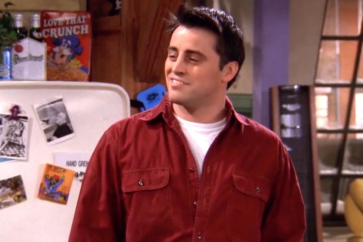 """<div class=""""paragraphs""""><p>Joey Tribbiani in a still from FRIENDS.</p></div>"""