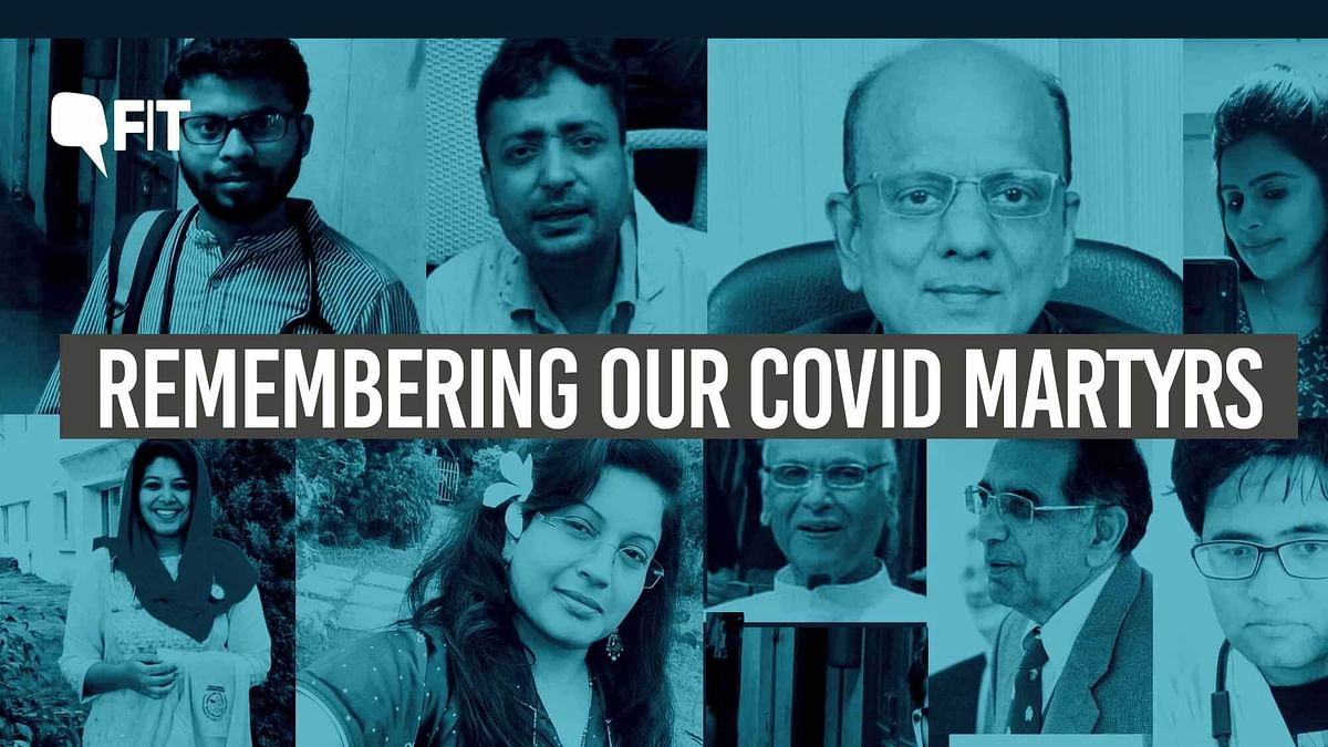 Remembering the COVID martyrs.