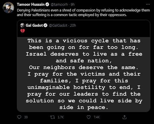 Gal Gadot Called Out For Statement On Israel-Palestine Violence