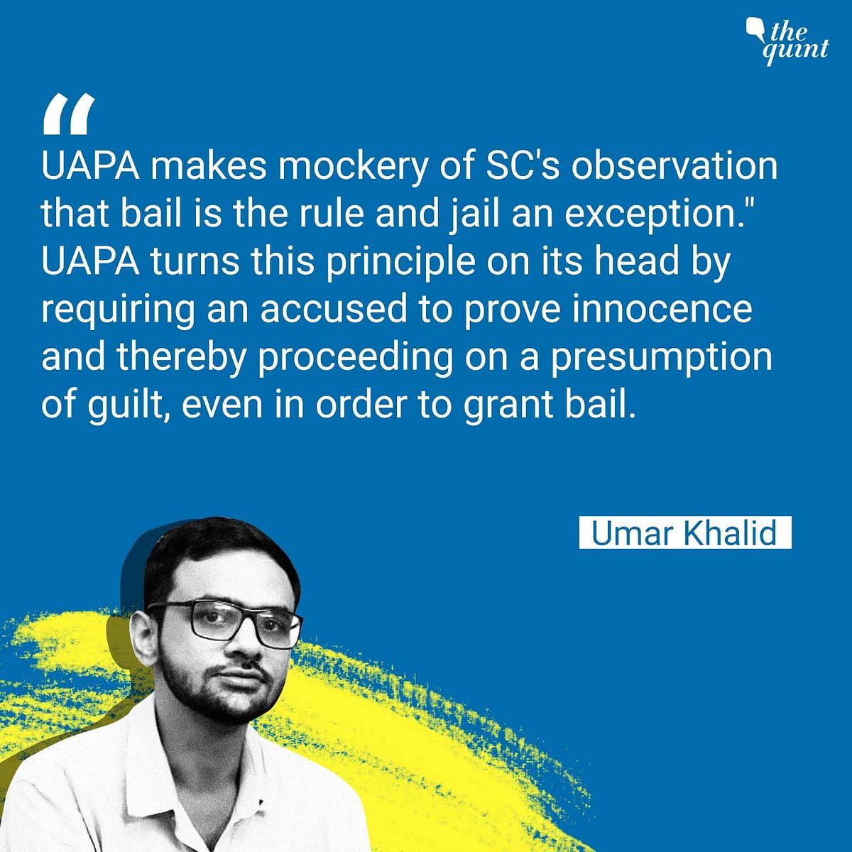 'Release Political Prisoners': We Read Umar Khalid's Letter
