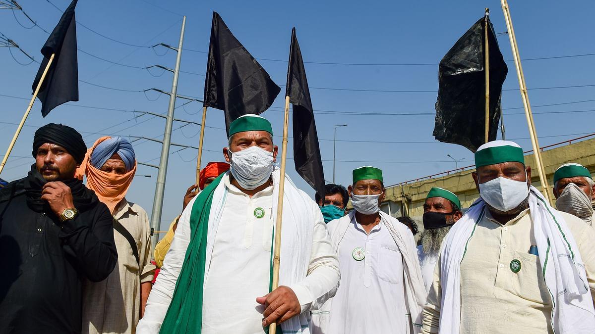 'Black Day' Protest: Farmers Hoist Black Flags, Burn Effigies