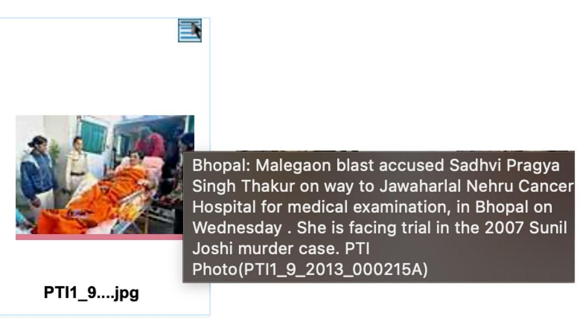 2013 Image of BJP MP Pragya Thakur Shared With a Misleading Claim