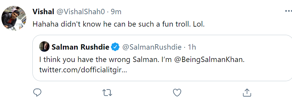 I'm Salman Khan: Salman Rushdie When Confused With Someone Else