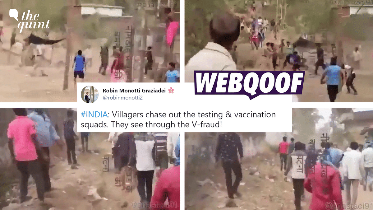 The video is from Jharkhand where villagers attacked cops who had gone to stop a fair taking place amid lockdown.