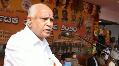 K'taka CM Yediyurappa's Son Breaks Lockdown Rules, Visits Temple