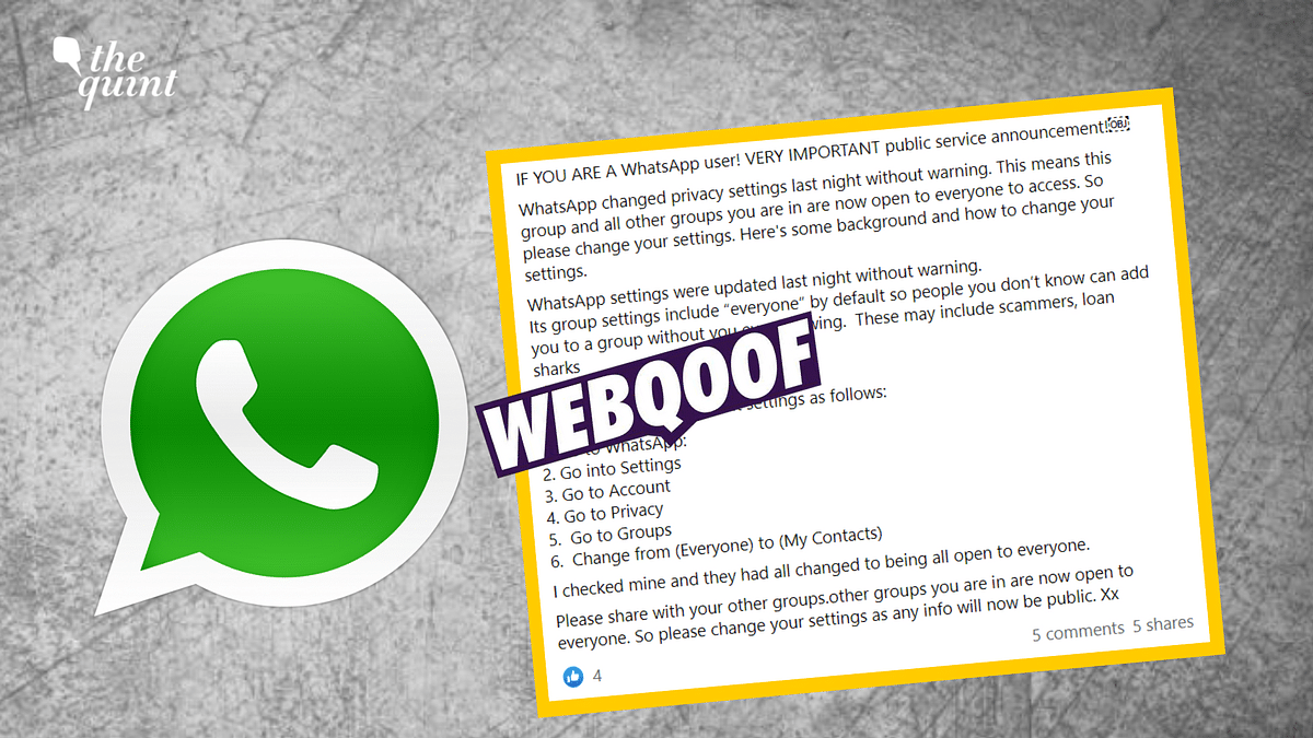 No, WhatsApp Doesn't Have A 'Secret Update' to Group Settings