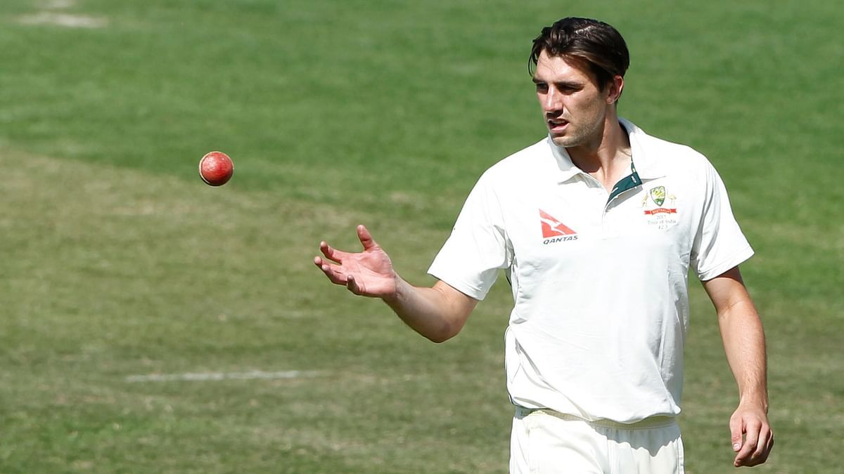 Pat Cummins of Australia during day two of the fourth test match between India and Australia held at the Himachal Pradesh Cricket Association Stadium on the 26th March 2017.