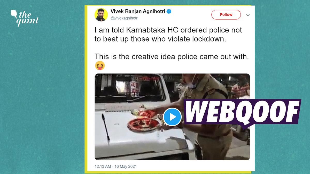 K'taka Cops 'Punishing' Lockdown Violators? No, Video is From Rewa