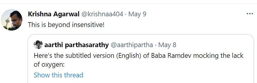 Baba Ramdev Mocks Country's Oxygen Shortage, Twitter Reacts