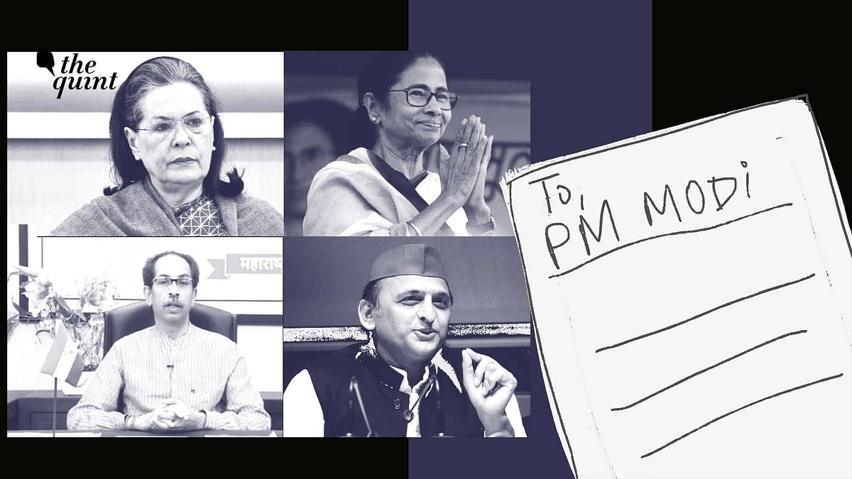 12 Opposition leaders have written to PM Modi on his government's handling of the COVID-19 pandemic