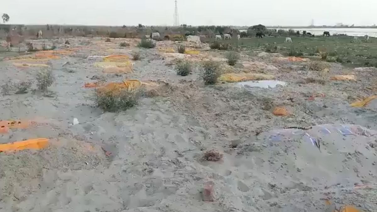Multiple bodies have now been found buried in sand in UP's Unnao district.