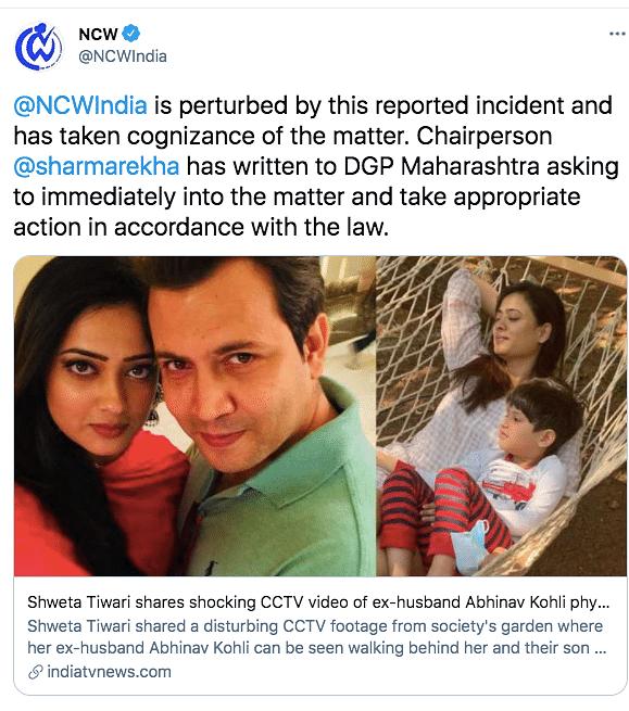 NCW Writes to Police About Shweta Tiwari's Case; Abhinav Reacts