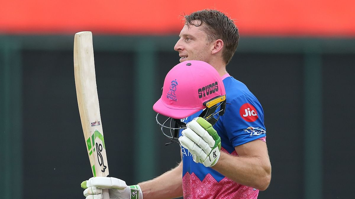Jos Buttler smoked his first IPL century against Sunrisers Hyderabad.