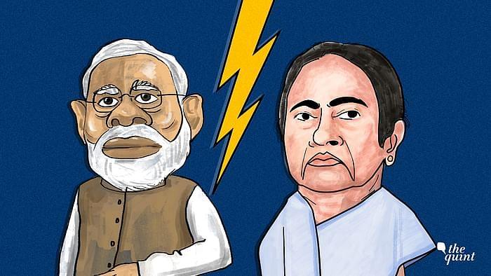 Image of Mamata Banerjee ad Modi used for representational purposes.