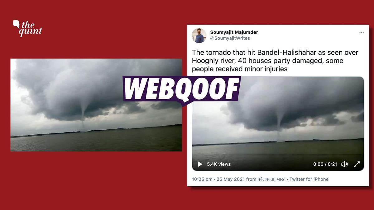 No, Video Doesn't Show Tornado That Hit WB Ahead of Cyclone Yaas