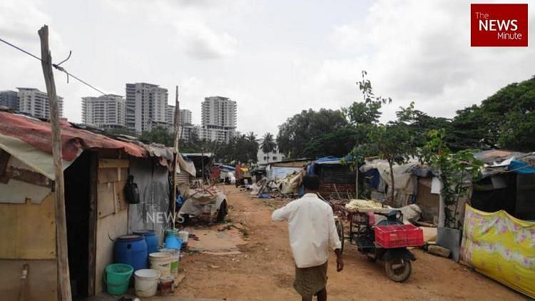 "<div class=""paragraphs""><p>Migrant settlement in Bengaluru.&nbsp;</p></div>"