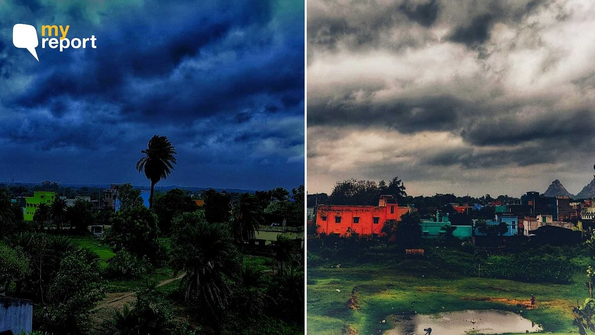 'Yaas, It's a Dark Cloudy Morning at My Hometown in West Bengal'