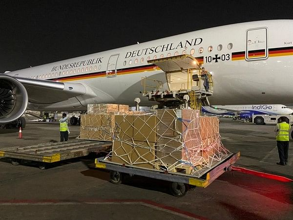 """<div class=""""paragraphs""""><p>India receives medical aid from Germany.&nbsp;</p></div>"""