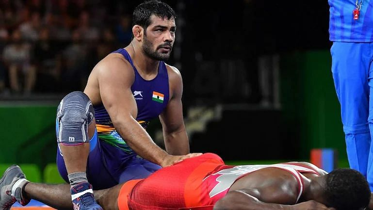 Sushil Kumar during a bout.